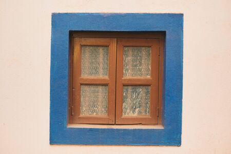 Old window in Portuguese style. India, Northern GOA, Arambol.