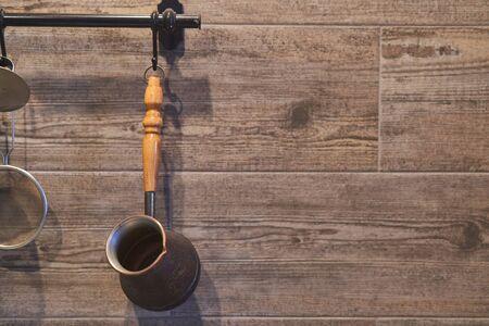 Coffee Turk hanging in the kitchen. Kitchen Details Imagens
