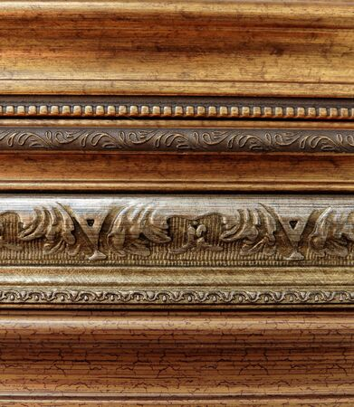 Instances of plastic moldings for making picture frames