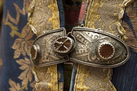 kazakh: kazakh traditional dress detail