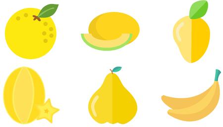 yellow fruit icon Illustration