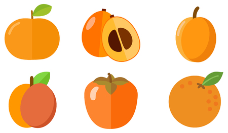 orange fruit icons Иллюстрация