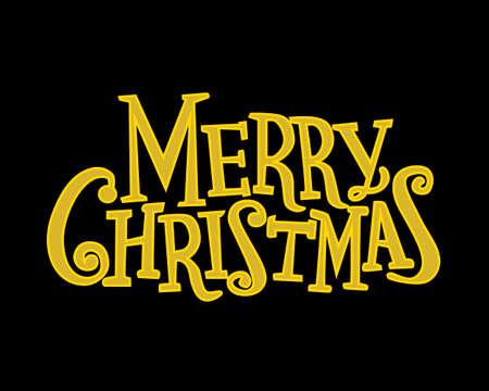 gold merry christmas on black backround