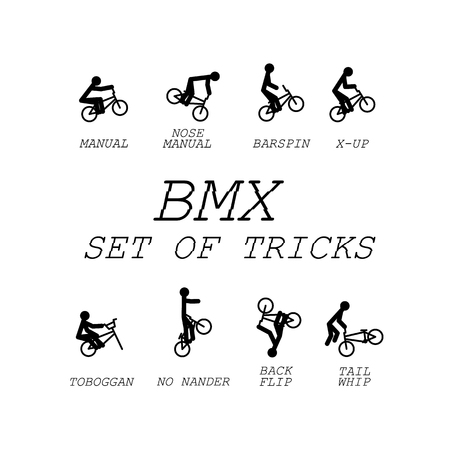 Bmx set of tricks