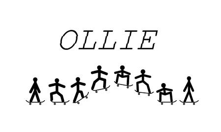 Ollie skateboard Ilustração