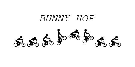 bunny hop bmx vector illustration Çizim
