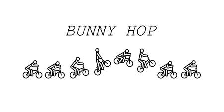 Bunny hop bmx Çizim