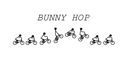 Bunny hop bmx Ilustração
