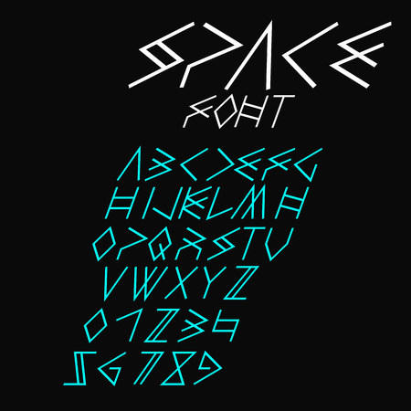 Italic space font