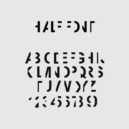 Half font