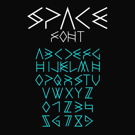 space font Illustration