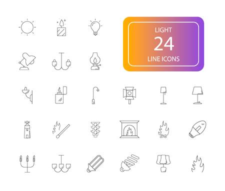 Line icons set. Light pack. Vector illustration Illustration