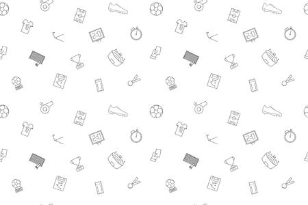 Vector football pattern. football seamless background 向量圖像