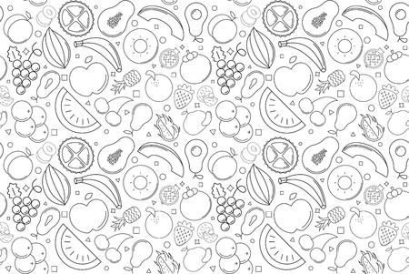 Vector fruit pattern. Fruit seamless background