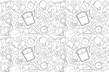Vector measuring pattern. Measuring seamless background