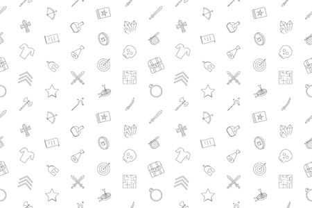 Vector rpg pattern. Rpg seamless background