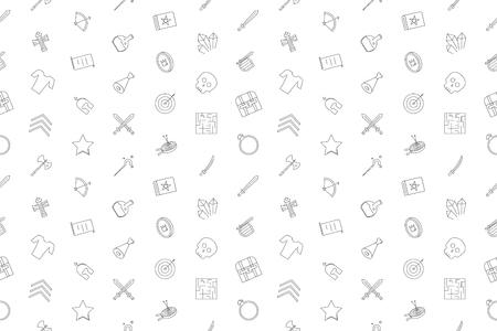 Vector rpg pattern. Rpg seamless background Banco de Imagens - 99172020