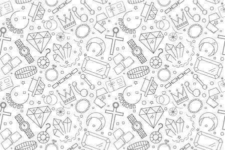 Vector jewelry pattern. Jewelry seamless background
