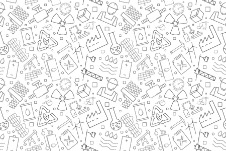 Vector industry pattern. industry seamless background