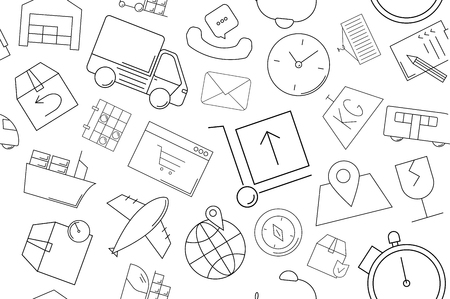 Vector logistics pattern. Logistics seamless background