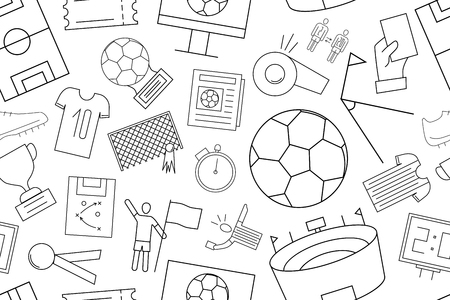 Vector football pattern. football seamless background Vectores