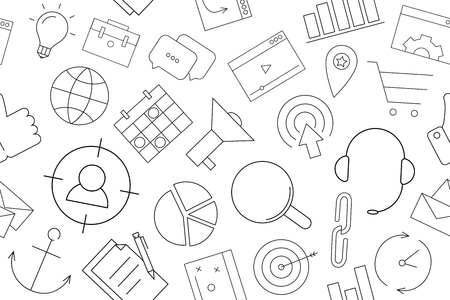 Vector marketing pattern. Marketing seamless background Illustration
