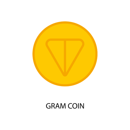 New telegram cryptocurrency Gram on new blockchain platform TON. Vector illustration 일러스트