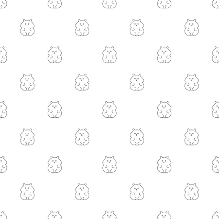 Hamster background from line icon. Linear vector pattern