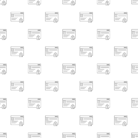 Internet protection background from line icon. Linear vector pattern