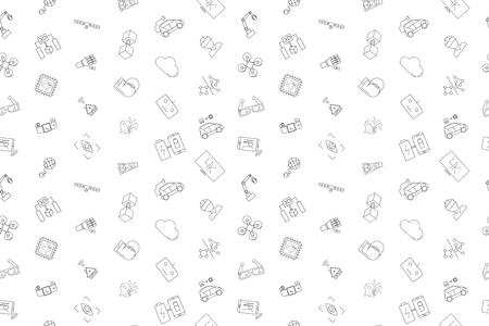 Vector Technology pattern. Technology seamless background. Vector illustration
