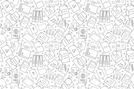 Vector Document pattern. Document seamless background. Vcctor illustration Illustration
