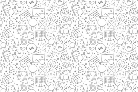 Search related from line icon. Linear vector pattern. Vector illustration Illustration
