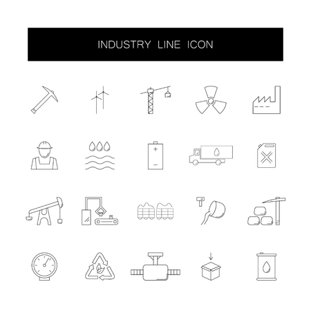Line icons set. Industry pack. Vector illustration Иллюстрация