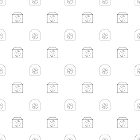 Generator background from line icon. Linear vector pattern. Vector illustration Foto de archivo - 112097849