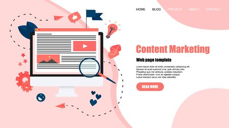 concept, buying online store. Website landing web page template.