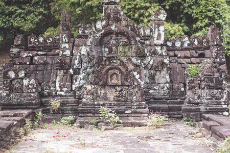 Khmer construction in Angkor, Cambodia Stok Fotoğraf