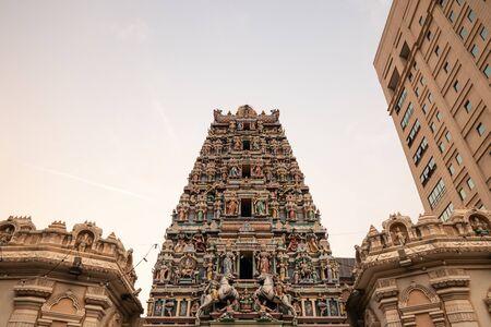 Kuala Lumpur temple - Sri Maha Mariamman evening.