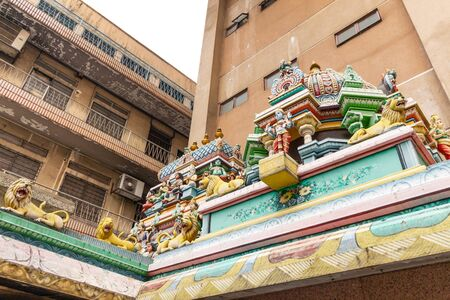 Architecture element Sri Maha Mariamman - temple in Kuala Lumpur.