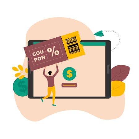 Gift card and promotion strategy, gift voucher, discount coupon and gift certificate concept in internet store on laptop.