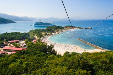 Zip line in Labadee island