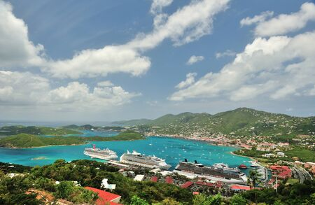 thomas: View from top on St Thomas Virgin Islands
