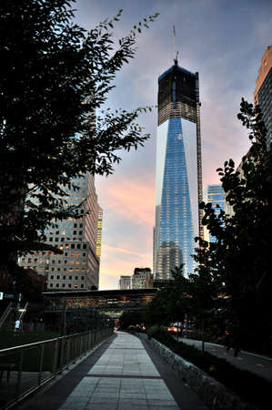 freedom tower: Freedom Tower during biulding
