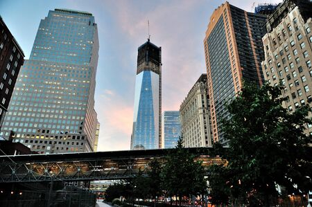 freedom: Freedom Tower during building Stock Photo
