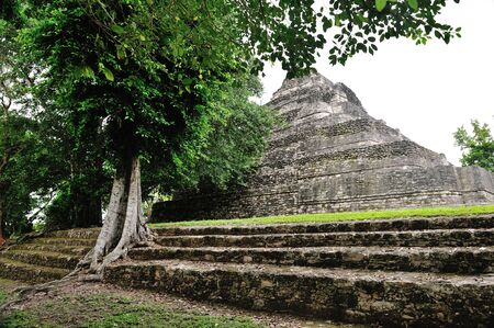 pyramid in Costa Maya Mexico