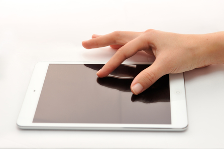 zooming: Zooming on tablet