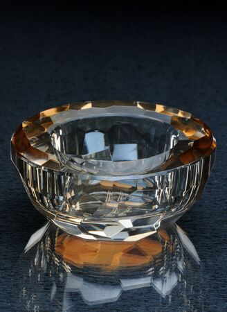 candle holder: round crystal holder for candle Stock Photo