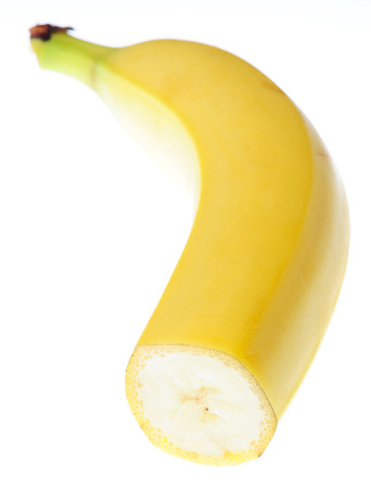 banana slice: banana slice fresh vivid isolated on white background