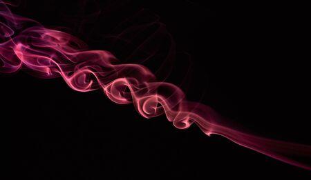 isoalated: swirl of red smoke isoalated on black backround