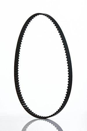 timing: one isolated timing belt on white background