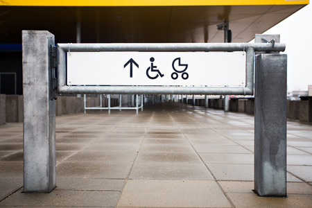 Entrance to the shop for physically challenged persons and strollers street view